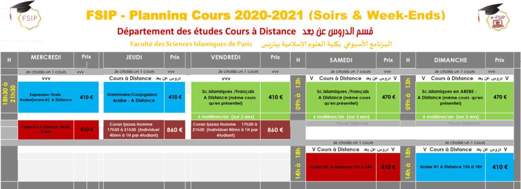 Cours_A-DISTANCE_soir-weekend_Cours_Arabe_Coran_Sciences-islamiques Paris