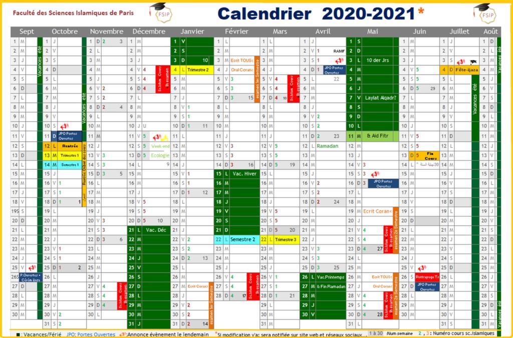 Dates_clés_calendrier_2020_2021_FSIP_Cours_Arabe_Coran_Calligraphie_islam_Religion_Paris_distance_zoom