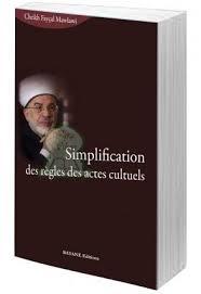 Simplification des règles des actes cultuels -18€+8€5 Envoi TOTAL >
