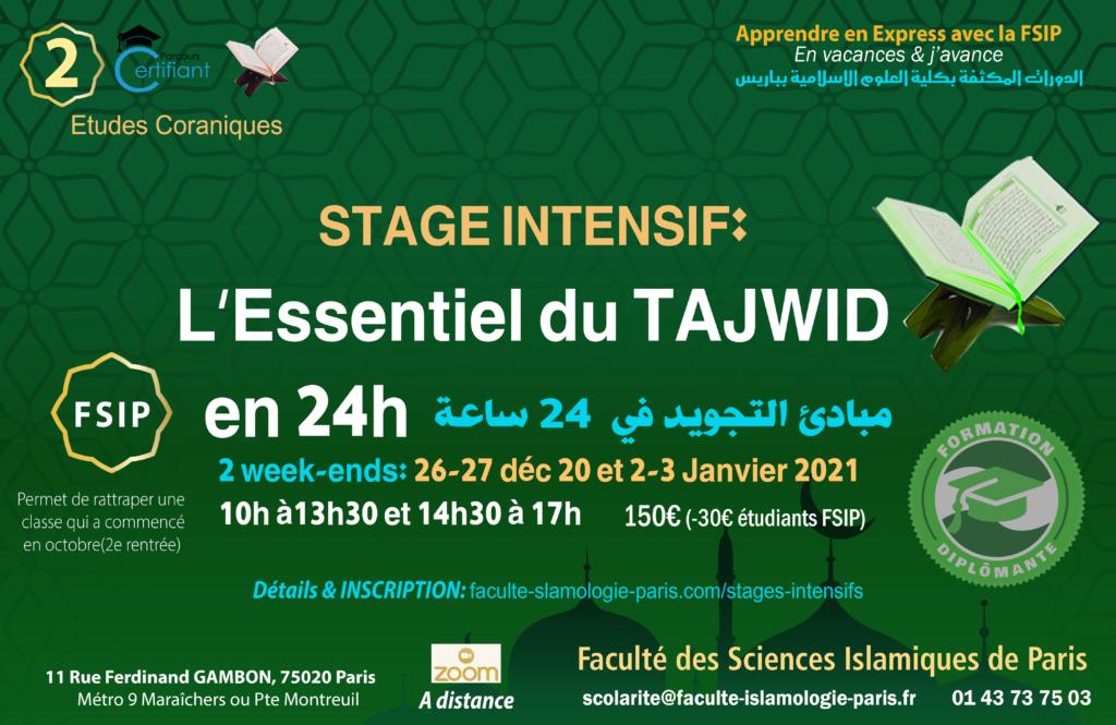 FSIP_Cours_stage_TAJWID_CORAN_debutants_decembre_ 2020