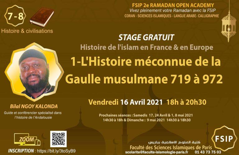 Bilal-NGOY-LHistoire-meconnue-de-la-Gaulle-MusulmaneFSIP_Cours_GRATUIT_Arabe_Calligraphie_Coran_Religion