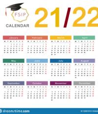 Calendrier FSIP 2021/2022