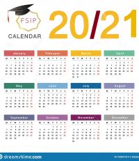 Calendrier FSIP 2020/2021